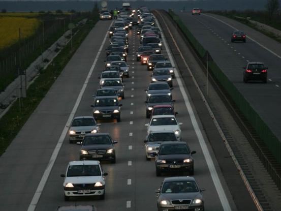 Circulaţie îngreunată pe autostrada Bucureşti-Piteşti