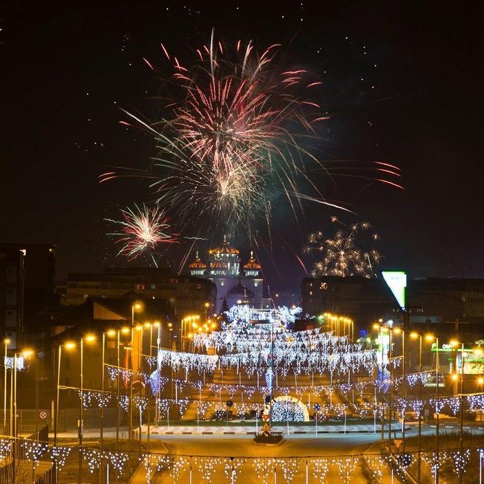 Foc de artificii spectaculos în noaptea dintre ani, în Mioveni