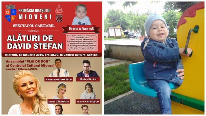 Mioveni: Spectacol caritabil pentru micuțul David Ștefan