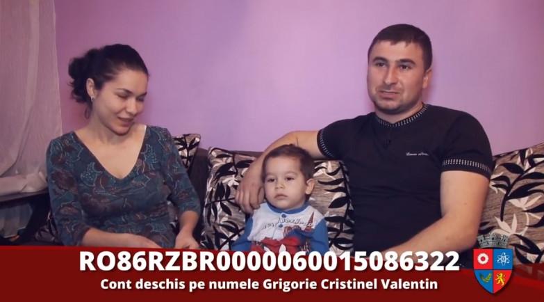 Un copil din Mioveni are nevoie de ajutor. Mesaj emoţionant din partea părinţilor!