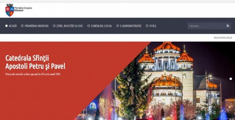 Primăria Mioveni, un nou site