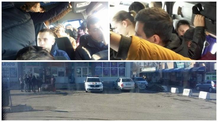 VIDEO: Bătaie de joc în maxi-taxi