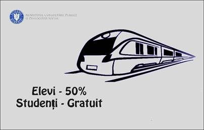 Gratuitate pentru studenți la biletele de tren și facilități pentru elevi și studenți la transportul cu metroul