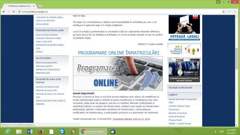 Programare on-line pentru înmatricularea vehiculelor