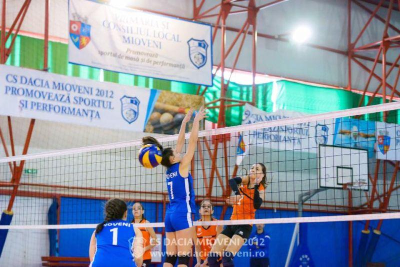 Voleibalistele din Mioveni, calificate la turneul final al Campionatului Naţional