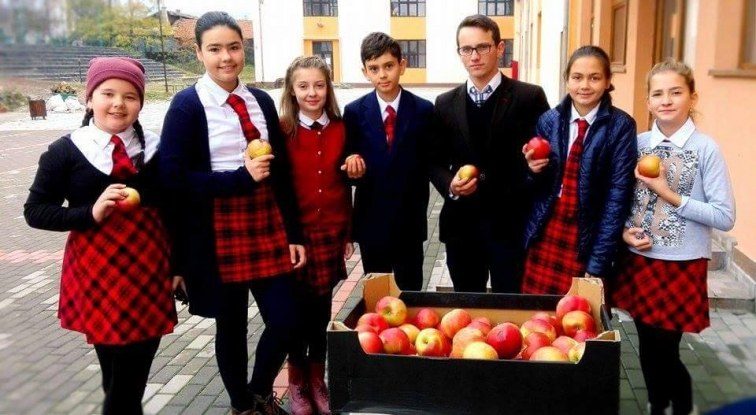 O firmă din Bucureşti livrează merele pentru şcolile din Argeş