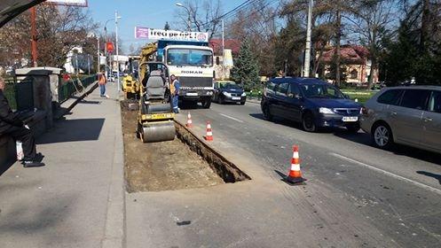 A fost spartă şi strada Armand Călinescu din Piteşti!