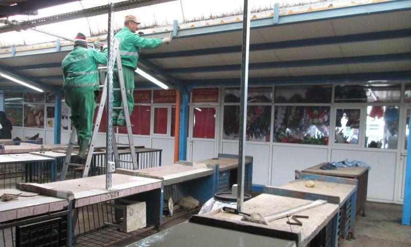 Piața Dacia din Mioveni a intrat în reparații