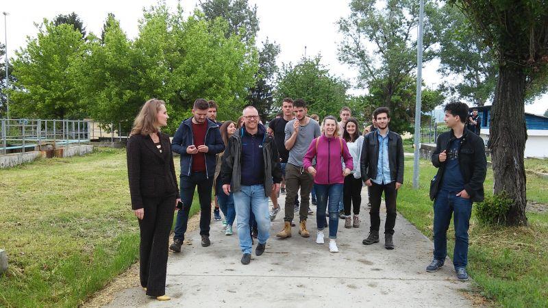 Studenţi români şi olandezi în vizită la Staţia de Epurare Piteşti