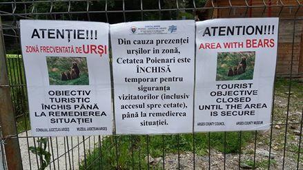 Revoltă pentru închiderea cetăţii Poenari