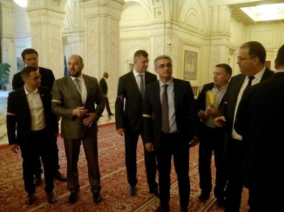 Piteşteanul Robert Turcescu, protest în Parlament