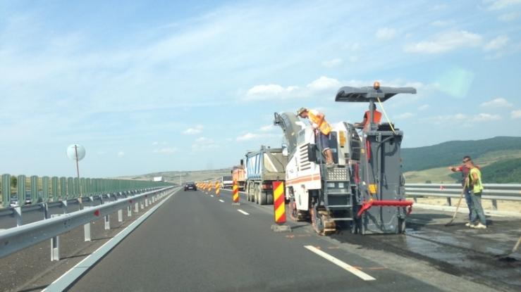 O săptămână de lucrări pe autostrada Bucureşti-Piteşti!