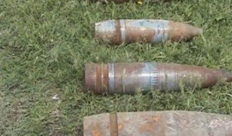 Proiectil din Al Doilea Război Mondial, găsit în Bradu