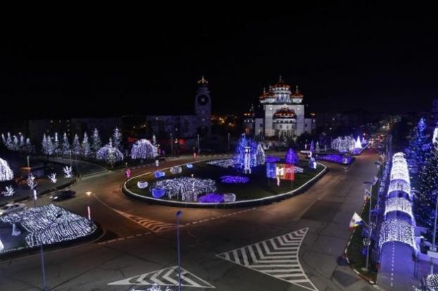 Iluminat de sărbători de poveste în Mioveni