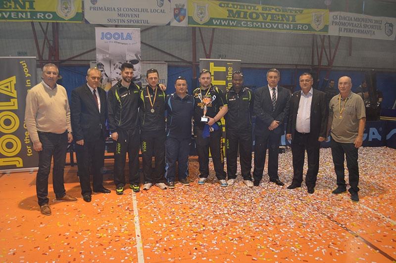 CS Mioveni, în premieră campioană națională la tenis de masă