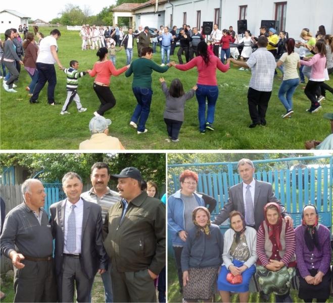 Candidatul PMP la primăria Căldăraru i-a scos pe burdeni la dans