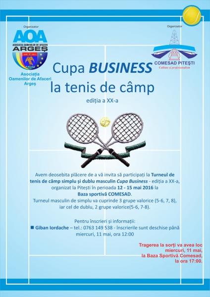 Cupa Business la tenis de câmp – ediția a XX-a