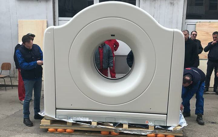 Spațiul pentru computerul tomograf a intrat în reparații