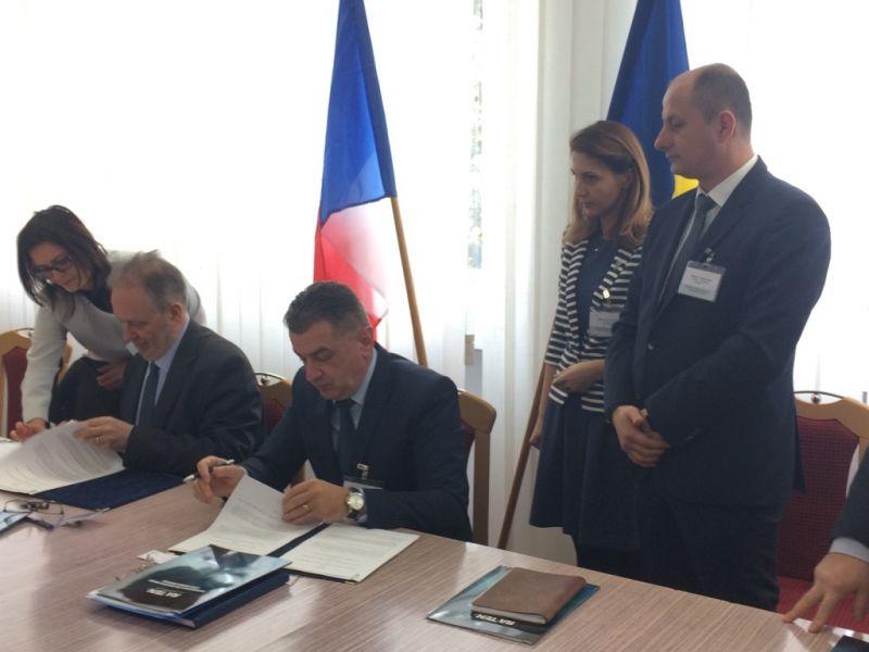 Robert Tudorache, la semnarea acordului între ICN și CEA