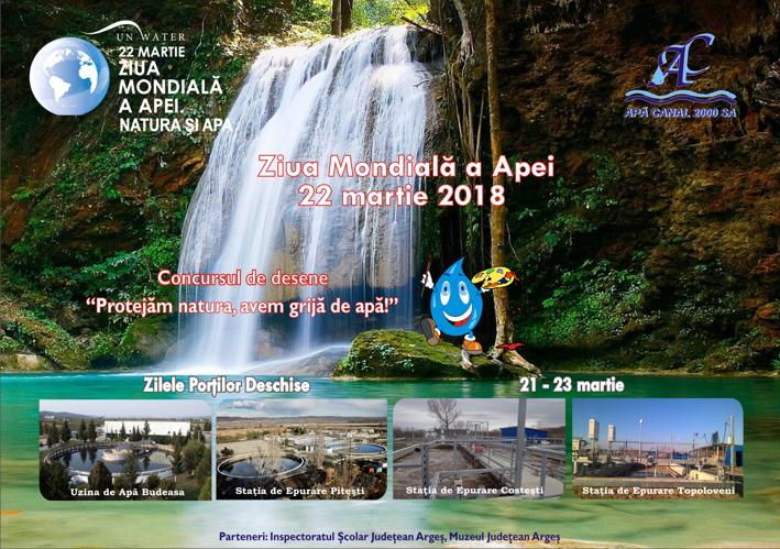 Societatea Apă Canal 2000 SA Piteşti aniversează Ziua Mondială a Apei – 22 martie