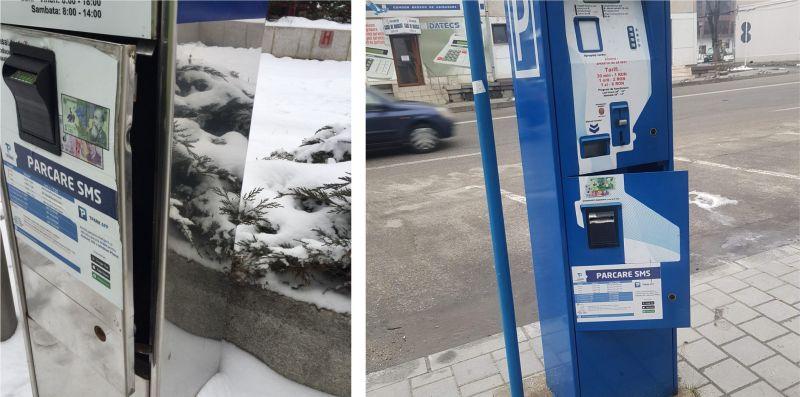 Spargeri la două aparate de autotaxare parcări