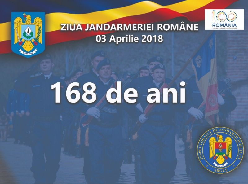 168 de ani  de la înfiinţarea Jandarmeriei Române