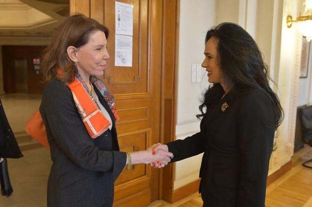 Simona Bucura Oprescu, întâlnire cu ambasadoarea Franţei