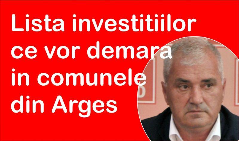 Bani pentru primăriile din Argeș. Lista investițiilor ce vor demara în comune