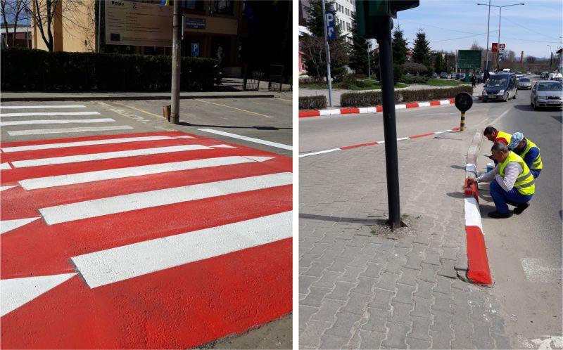 ADP Pitești - acțiune de reîmprospătare a marcajelor rutiere