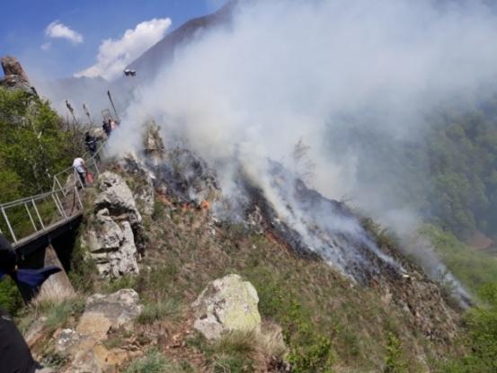 Trei posibile cauze pentru focul de la cetatea Poenari