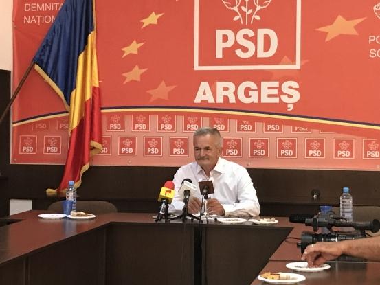 PSD Argeş îl susţine pe Liviu Dragnea