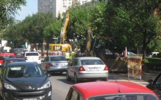 Strada Armand Călinescu a intrat în reparaţii
