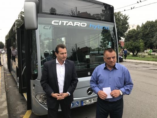 Autobuzul Citaro Hybrid de la Mercedes a fost testat azi în Piteşti