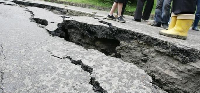 Alunecare de teren pe Dealul Negru