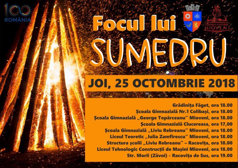 "Tradiție: ""Focul lui Sumedru"" la Mioveni"