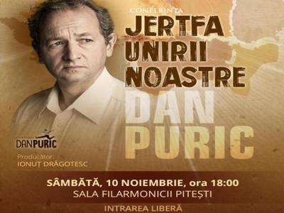 Dan Puric, conferinţă în Piteşti