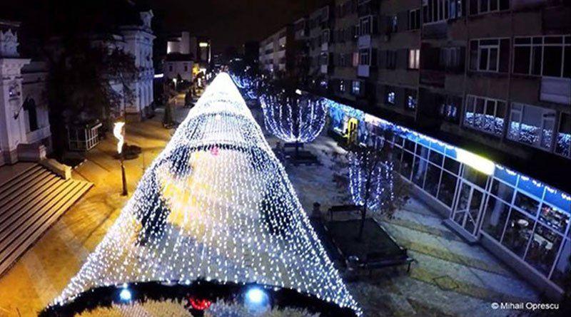 Pitești: Iluminat de sărbători ca în povești