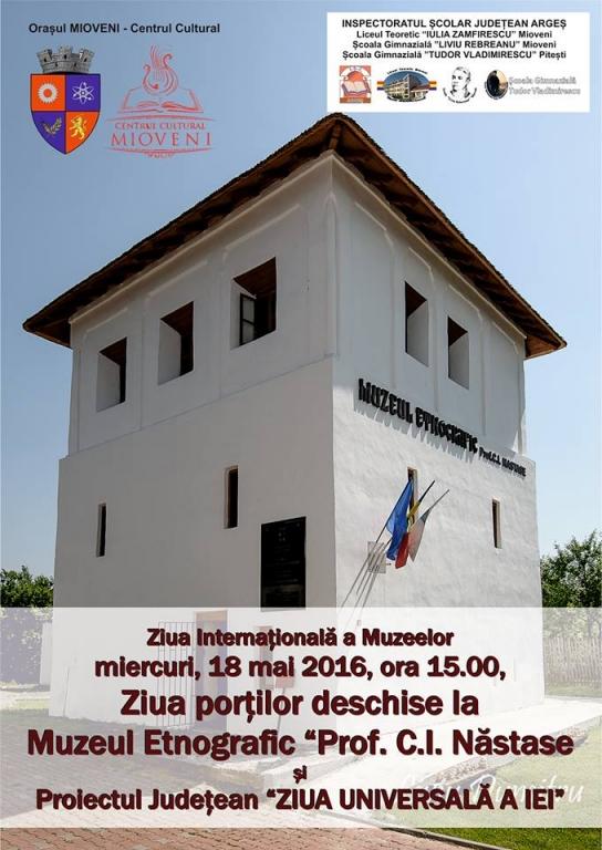 Ziua internaţională a muzeelor şi ziua universală a iei , marcate la Mioveni