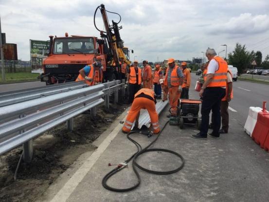 Şoferi, circulaţi cu prudenţă! Noi lucrări pe autostrada Bucureşti-Piteşti