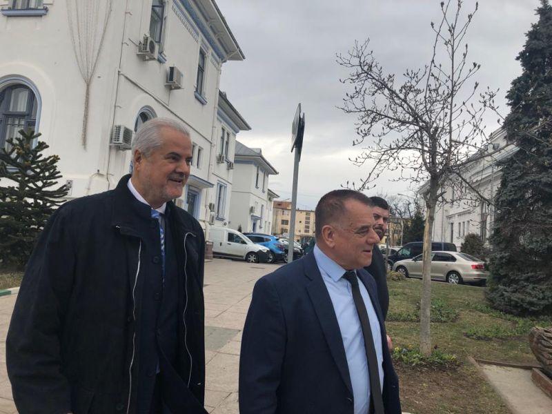 Primarul Cornel Ionică  - întrevedere cu fostul premier Adrian Năstase
