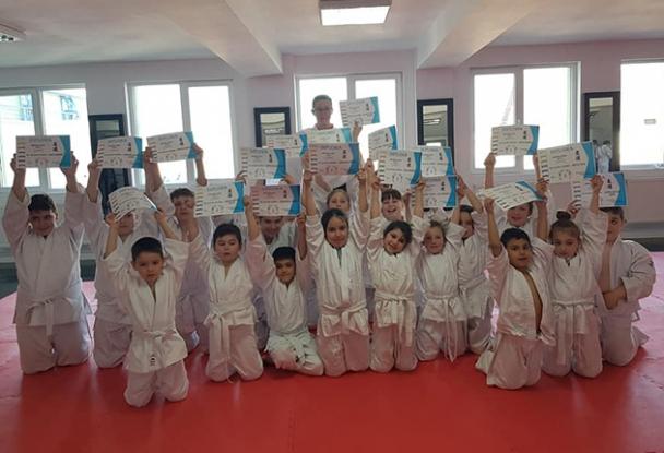 Micii judokani din Bradu, reuşită  la primul examen important