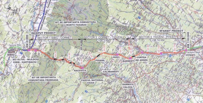 Peste jumătate de miliard de euro pentru autostrada Piteşti - Sibiu. Află traseul noii autostrăzii, pas cu pas!