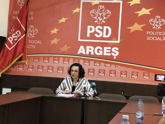 Simona Bucura Oprescu: PSD Argeş a obţinut chiar mai multe voturi acum decât altădată